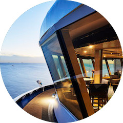 USE YOUR SHIPBOARD CREDIT FOR DINING WITH A VIEW