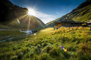 Stay in a lodge accessible only by helicopter